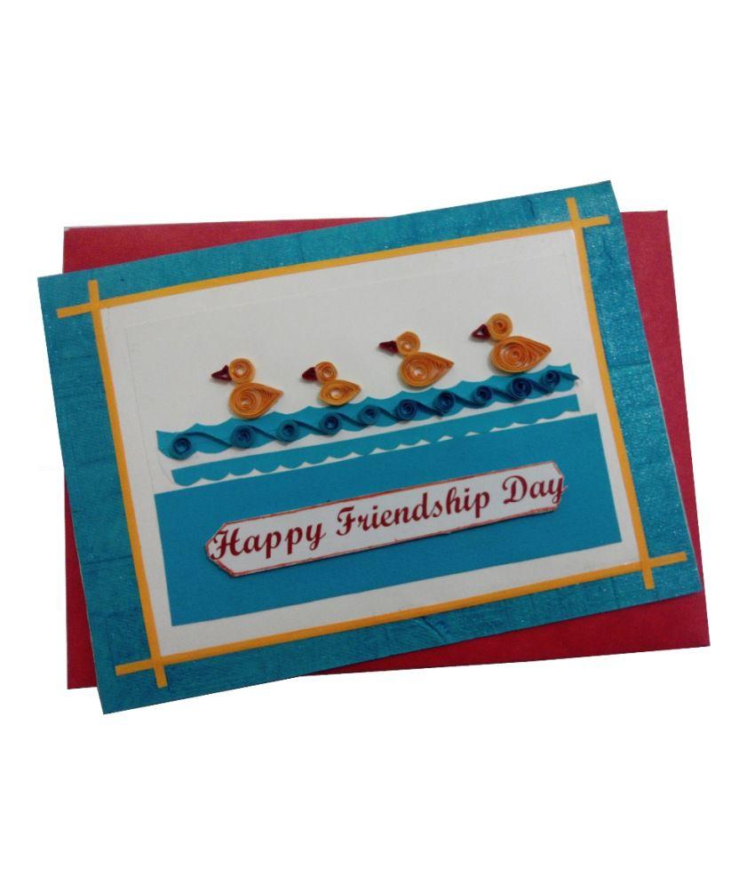 Mishti Creations Handmade Friendship Day Greeting Card