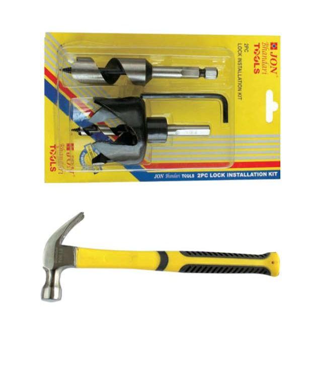 Jon Bhandari Adjustable Round Hole Saw And Claw Hammer 16 Oz