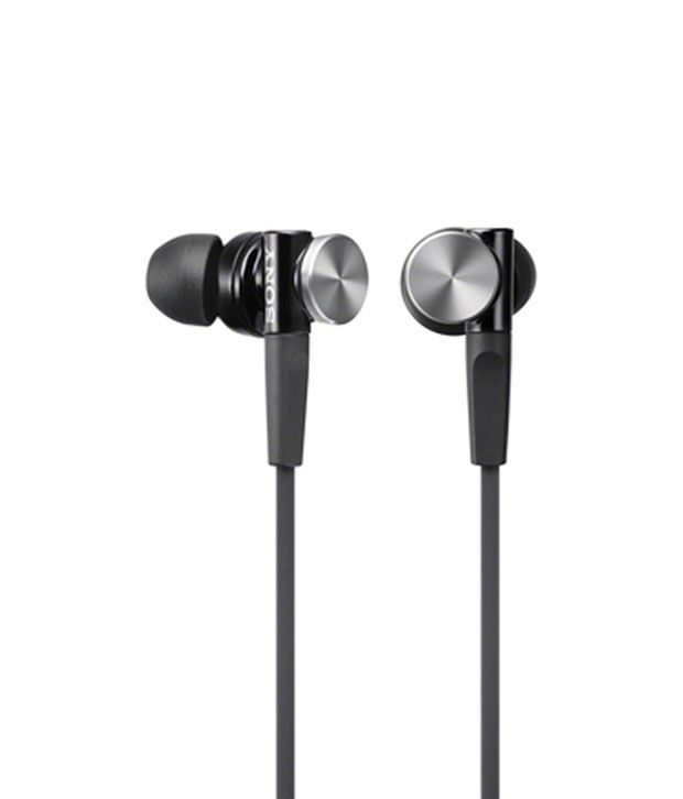 Sony Mdr-Xb70Ap/B In Ear Earphones With Mic (Black) With Local Invoice For  1Yr Warranty With Zoook Earphone 195/- Free
