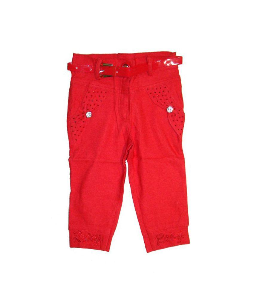 Bodingo Red Synthetic Solids Capri