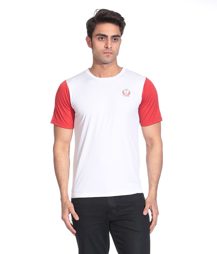 D Vogue London White And Red Dry Fit T Shirt