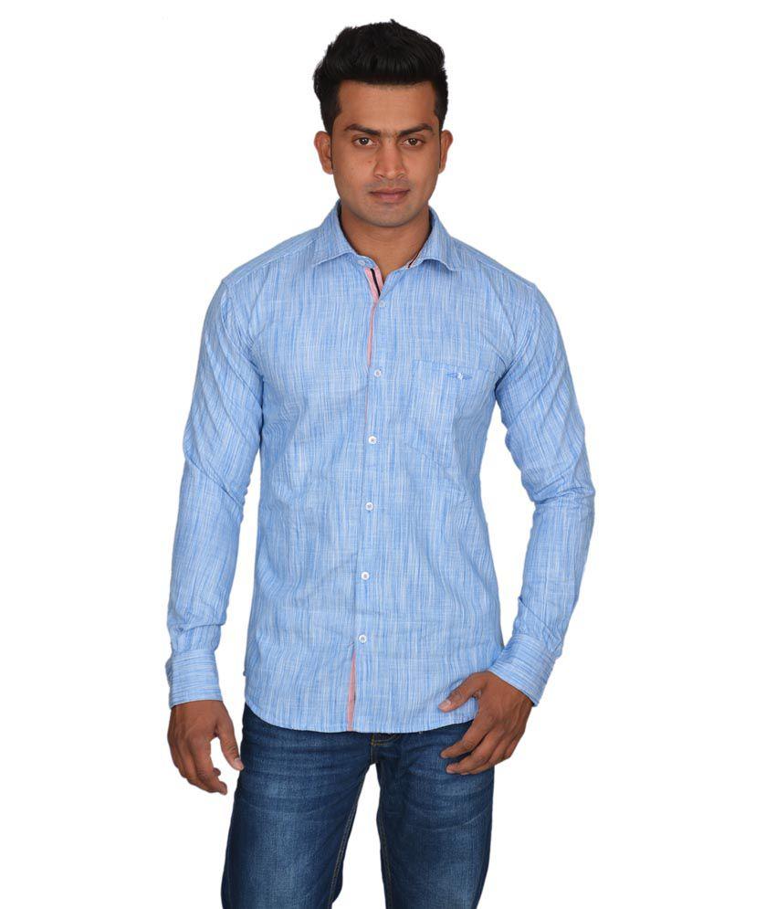 Doublef light blue linen men 39 s partywear shirt buy for Mens light blue linen shirt