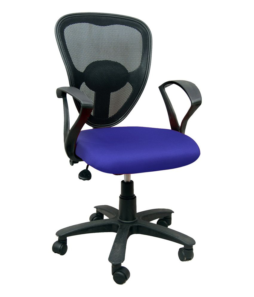 Nice revolving office chair blue buy nice revolving for Blue office chair