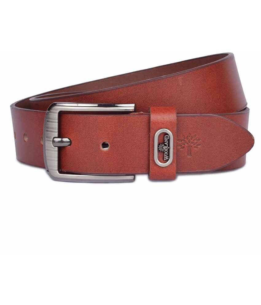 Woodland Brown Leather Pin Buckle Formal Belt