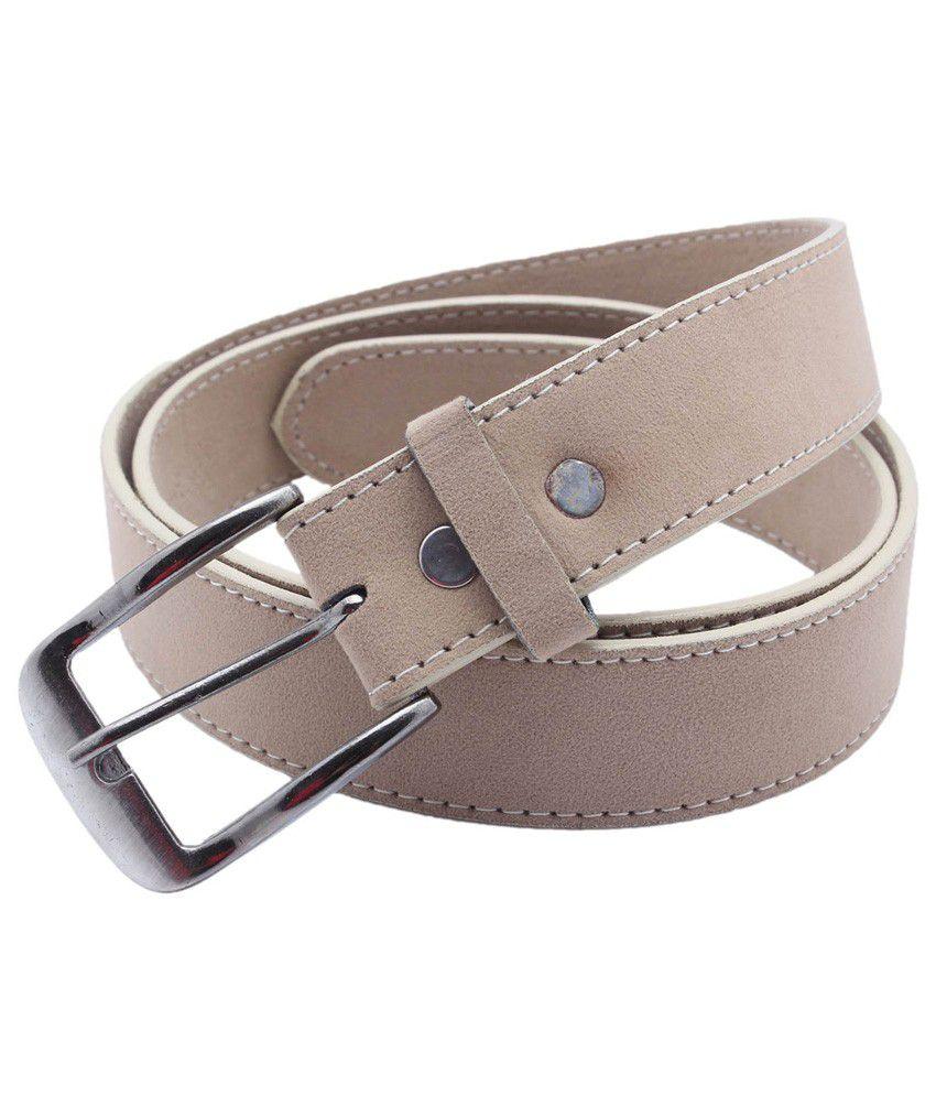 Taboo Beige Pin Buckle Formal Belt For Men