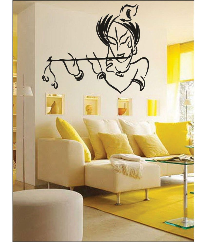 Wall1ders Your Krishna Black Wall Stickers - Buy Wall1ders Your ...