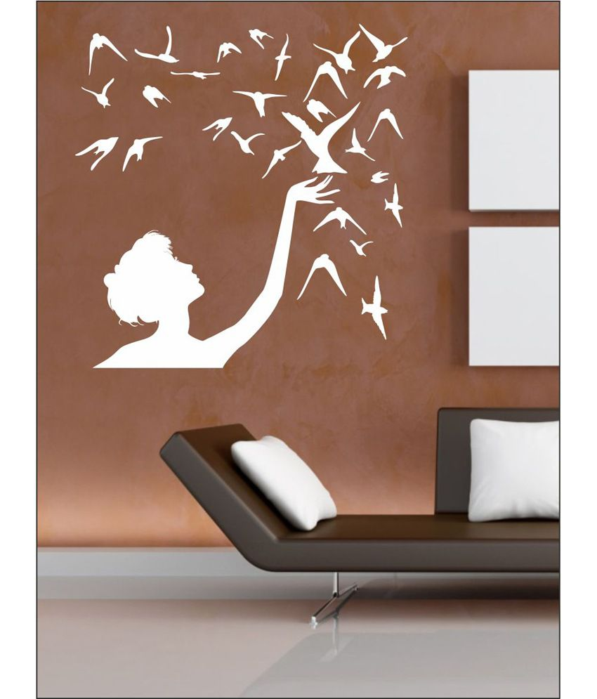 Wall1Ders Free Bird White Wall Stickers - Buy Wall1Ders Free Bird White Wall Stickers Online at ...