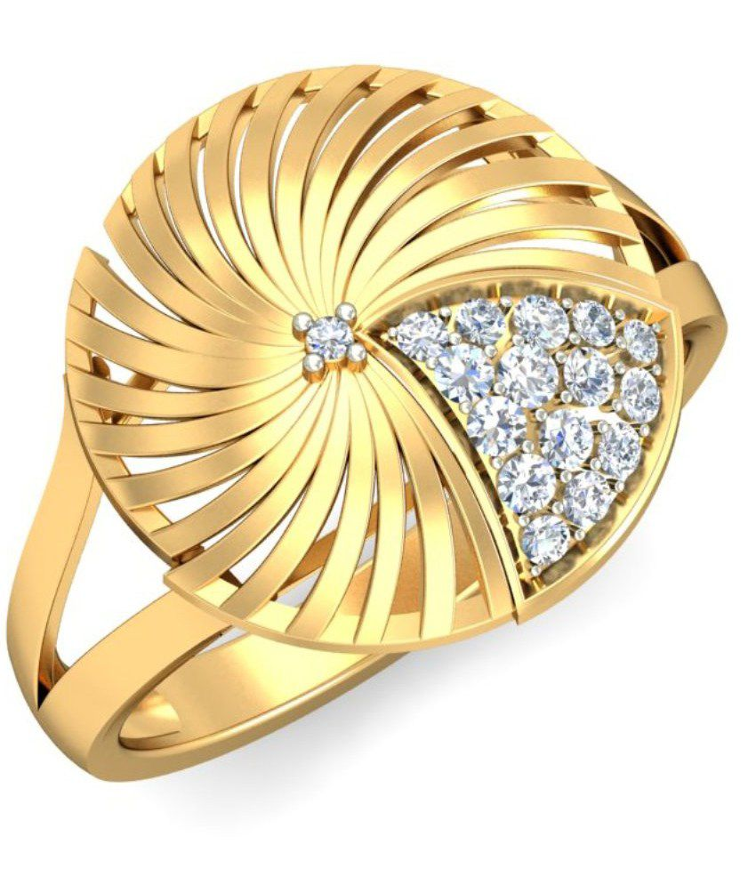 Demira Jewels 14kt Gold Circle Of Life Ring 100%Certified