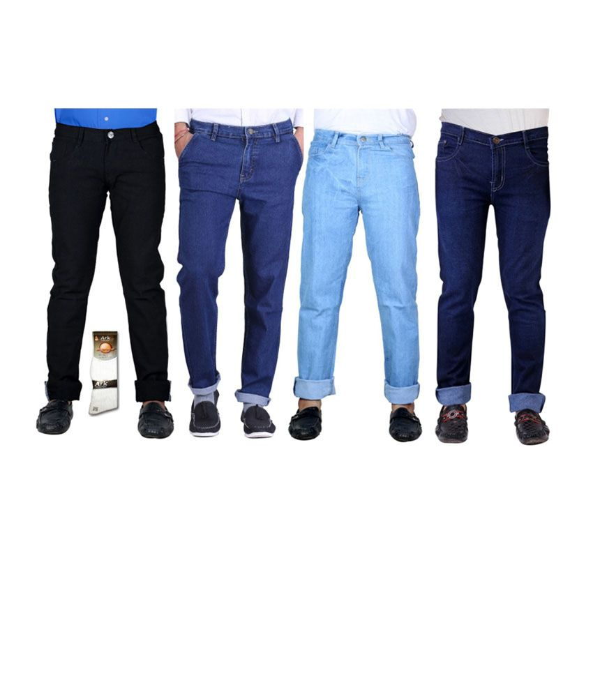 Haltung  Multicolor Cotton Basic Denim Jenas - Combo Of 4