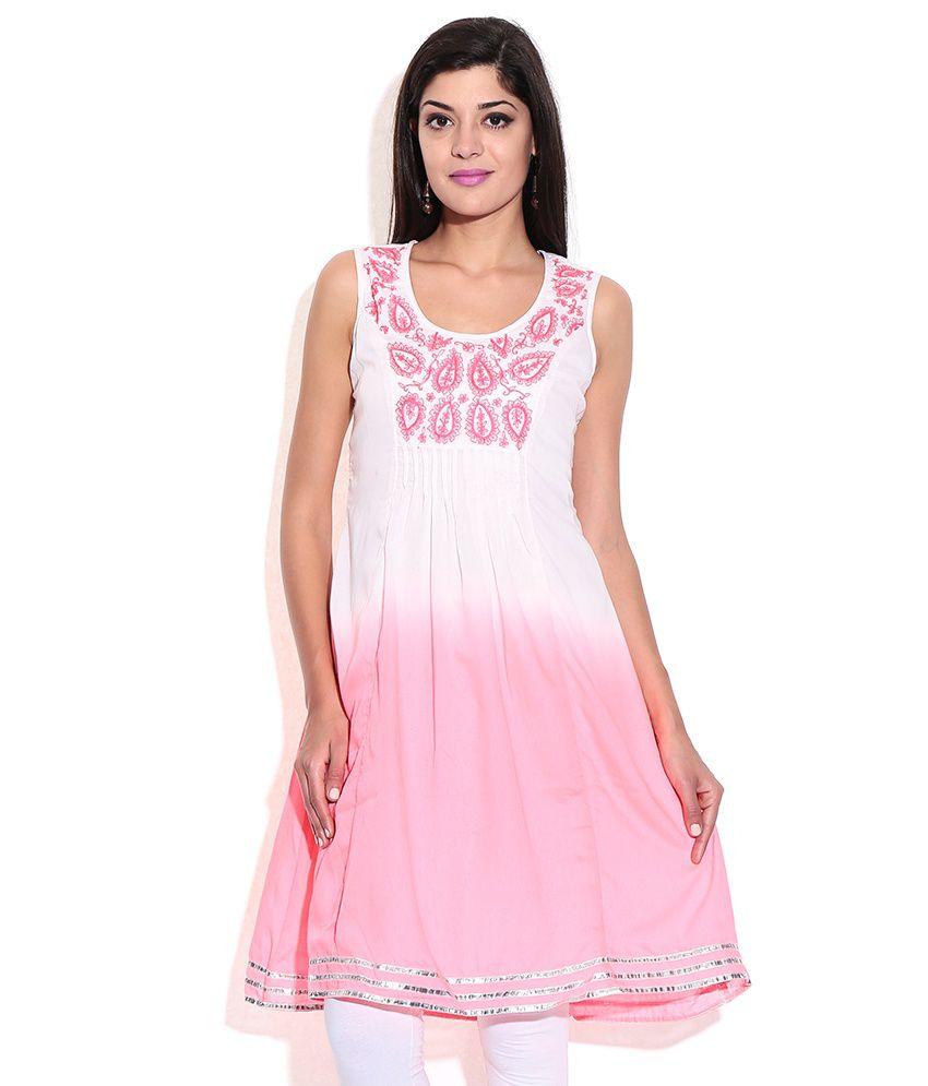 c4755ef7884d7 Melange Pink   White Kurta - Buy Melange Pink   White Kurta Online at Best  Prices in India on Snapdeal