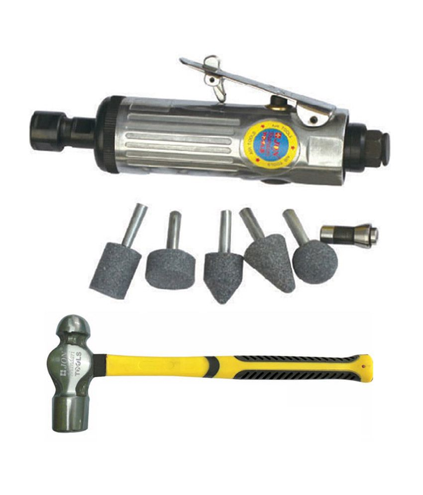 Air Die Grinder With 1/4 Inch Chuck And Ball Pein Hammer - 340g