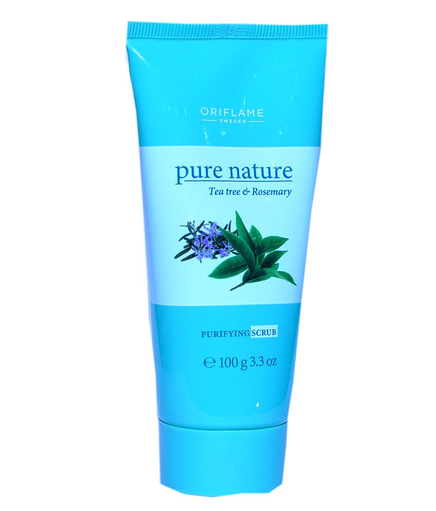 Oriflame Pure Nature Tea Tree And Rosemary Purifying Scrub