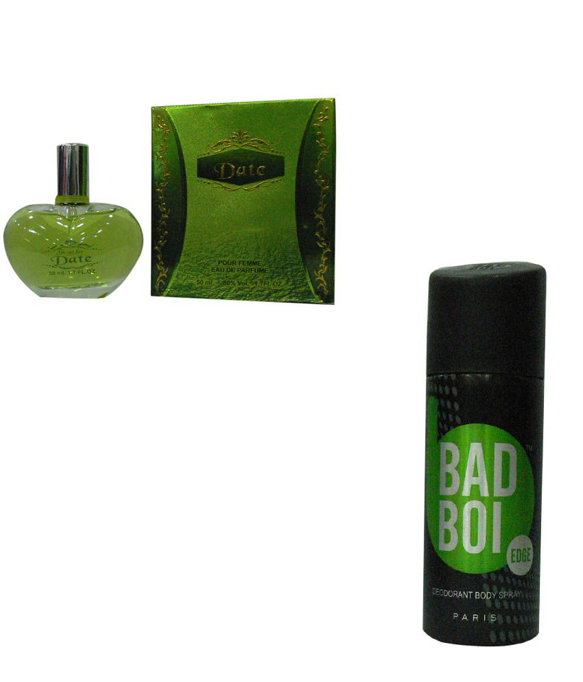Eternal Combo Of Date Perfume For Women And Bad Boi Edge Deo Spray For Men