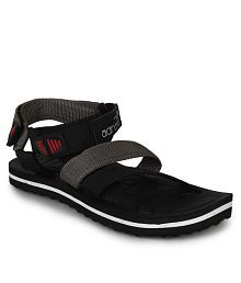 Adreno Black Floater Sandals