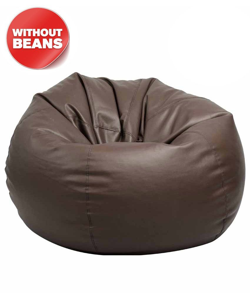Blue Sand Xl Brown Modern Bean Bag Cover Without Beans