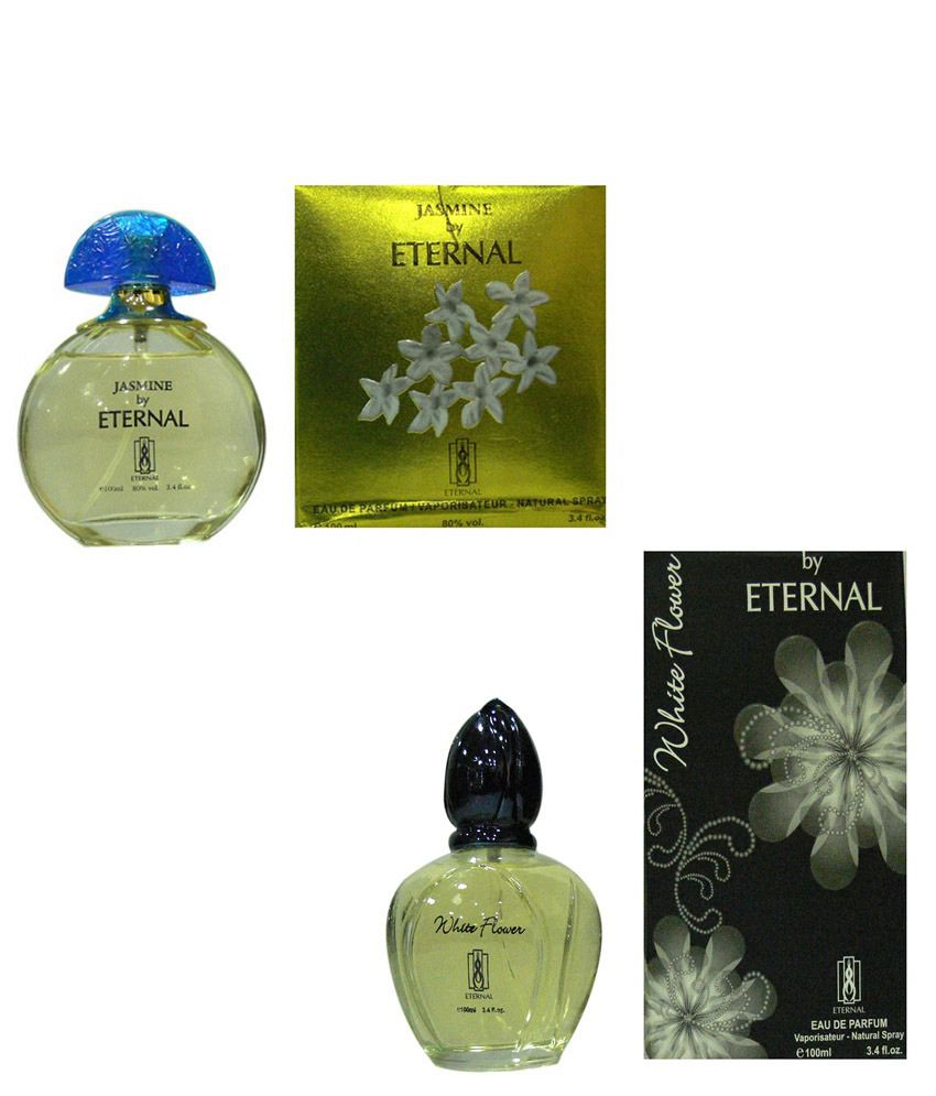 Eternal Combo Of Womens Jasmine Perfume And White Flower Perfume