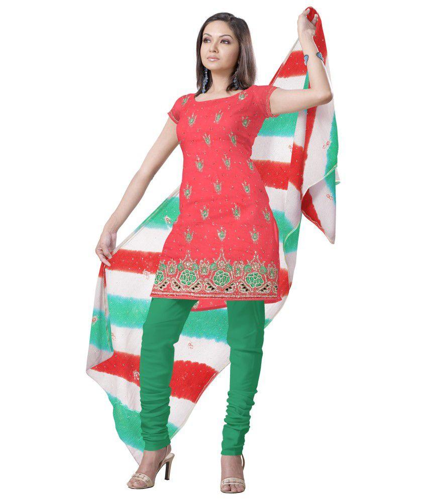 Megha Unstitched Dress Material Multi Color Chiffon Unstitched Dress Material