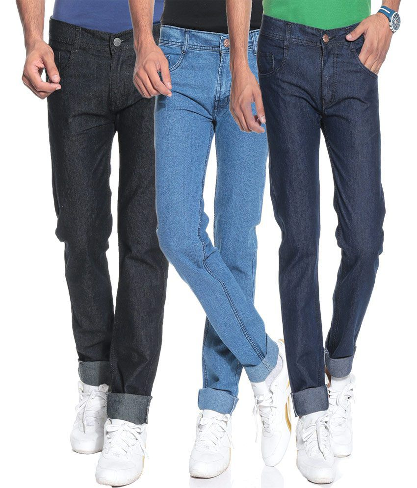 Pazel Combo Of 3 Stretchable Jeans For Men