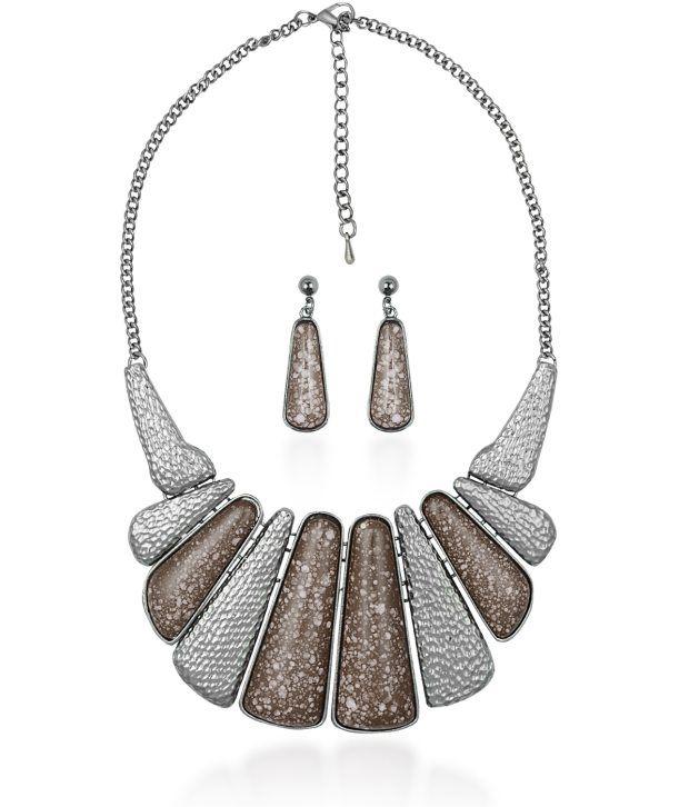 Big Tree Brown Eclectic Necklace Set