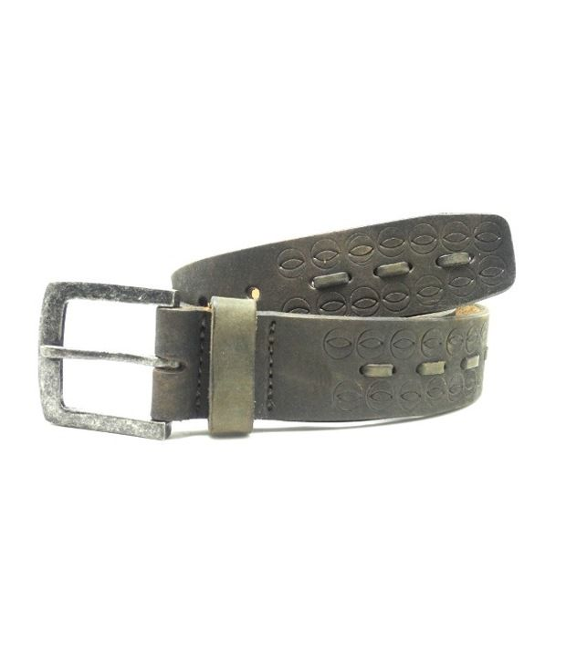 Urban Vintage Classic Leather Belt - Brown