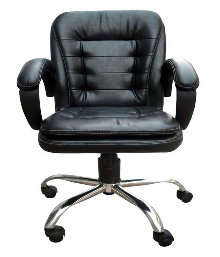 Chair In Black Buy Low Back Office Chair In Black Online At Best