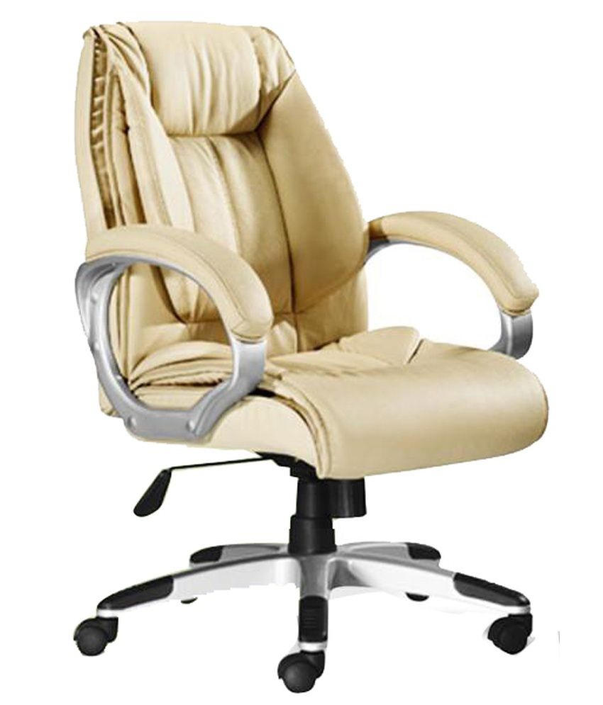 Medium back office chair in cream buy medium back office for Cream office chair