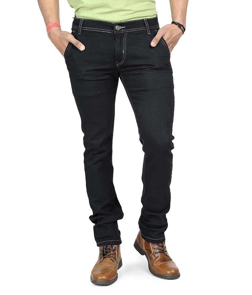 Eprilla Black Slim Fit Men's Jeans