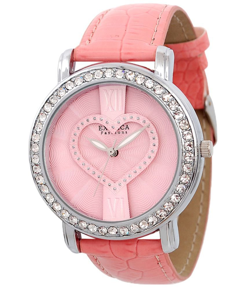 Exotica Fashions Exotica Cool Pink Analogue Wrist Watch For Women
