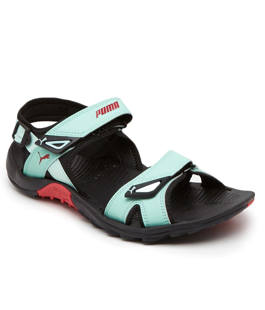 b0dabc8ccd0e71 Puma Vesta Sdl Turquoise Black Floater Sandal