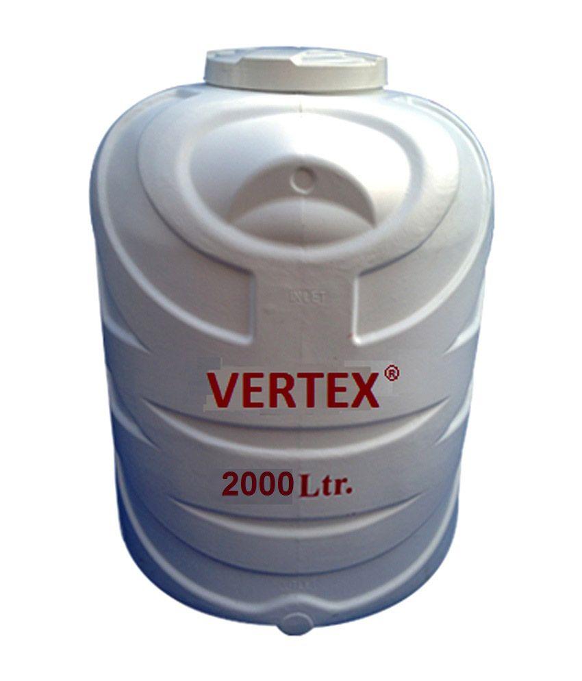 Buy Vertex Blow Moulded Water Tank - Triple Layer (2000 Litre) Online ...