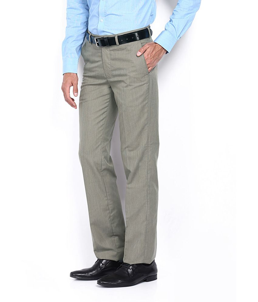 Style Psita Green Formal Men's Trouser