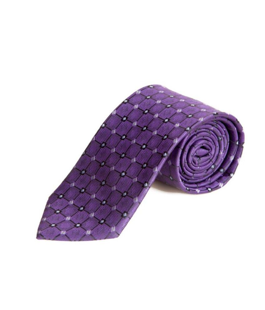 The Vatican Electric Blue With Black Square Design Tie