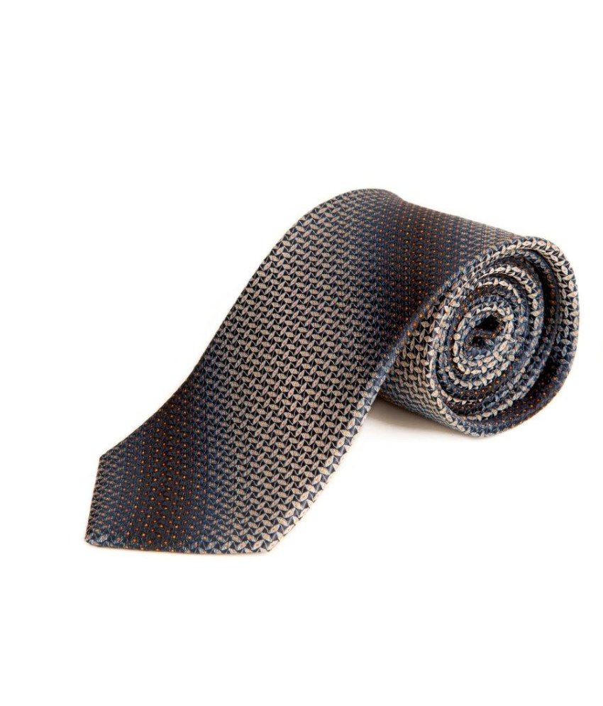 The Vatican Mixture Of Royal Blue, Black, White And Small Orange Dots Tie