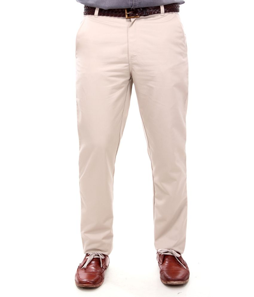 Addiction Cotton Flat Casuals Trouser