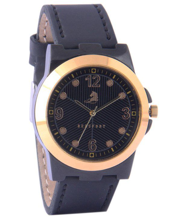 Beaufort Enticing Black Wrist Watch For Men