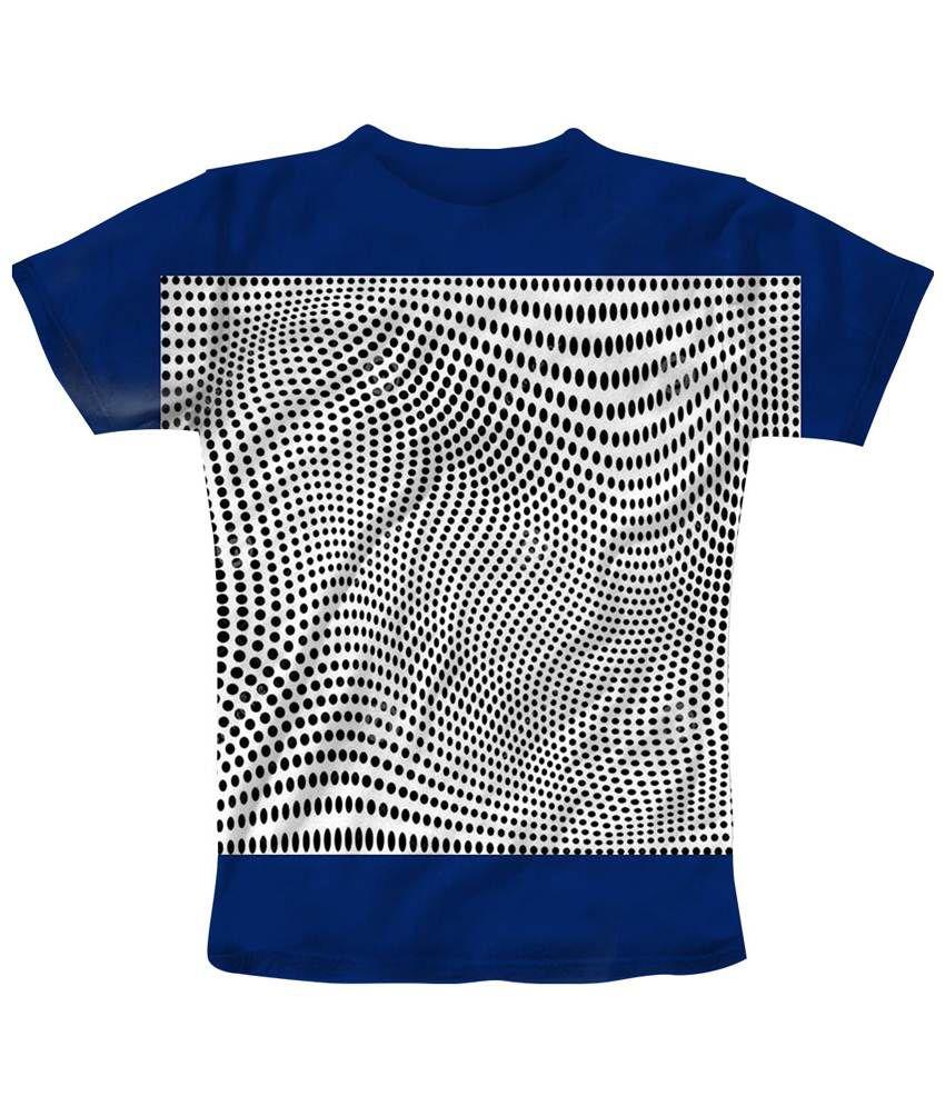 Freecultr Express Beautiful Blue & White Travel Printed T Shirt