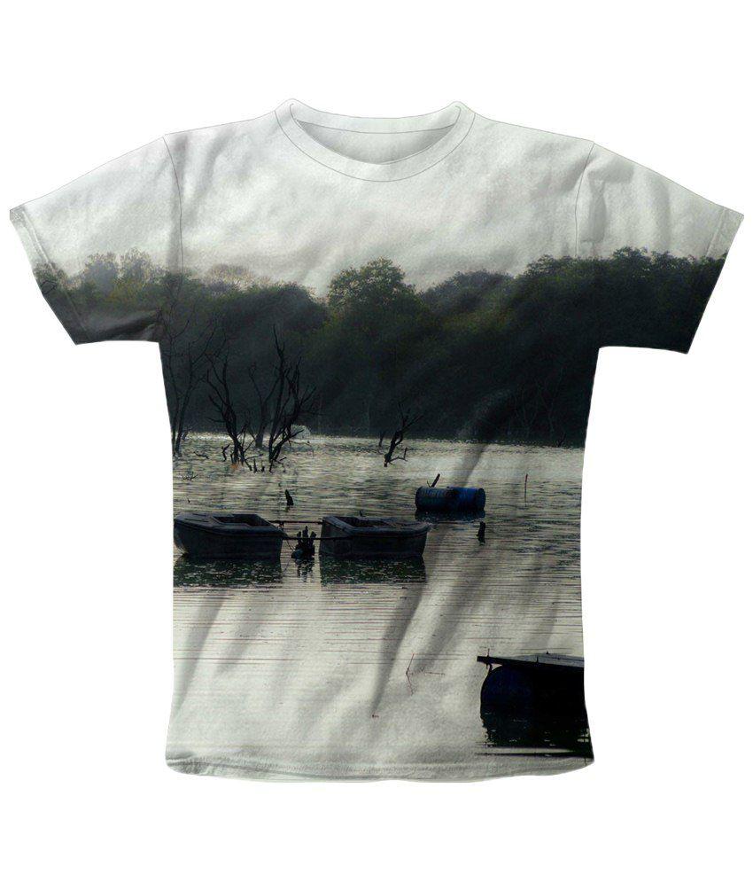 Freecultr Express Charismatic White & Black Printed T Shirt