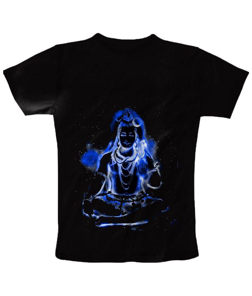 Freecultr Express Impressive Black & Blue Shiva Printed T Shirt