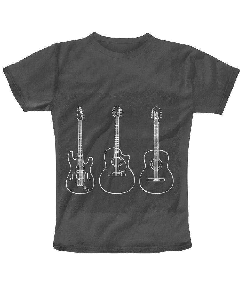 Freecultr Express Sensational Gray 3 Strings Printed T Shirt