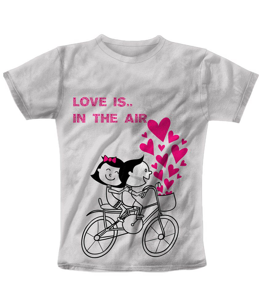 Freecultr Express White & Pink Love Is In The Air Graphic T Shirt