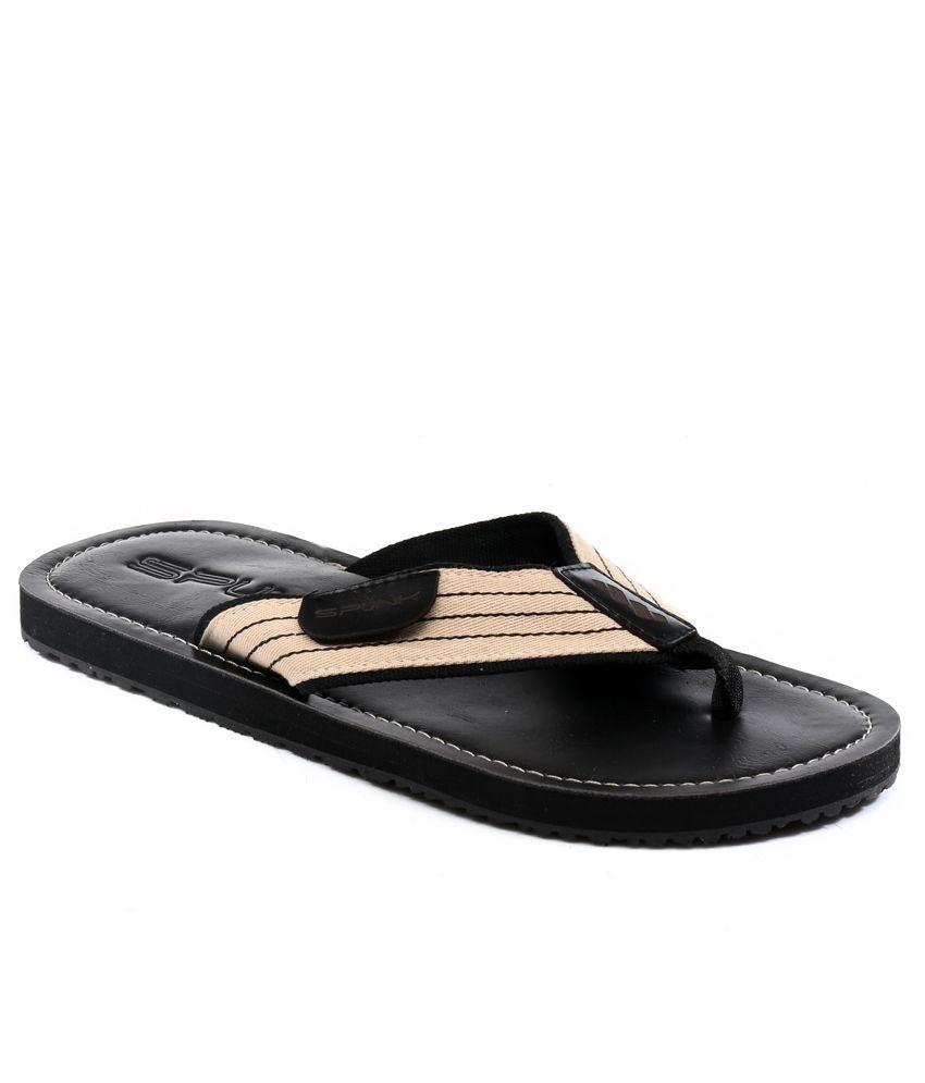 442cd53e6443 Spunk Black Classic Slippers Price in India- Buy Spunk Black Classic Slippers  Online at Snapdeal