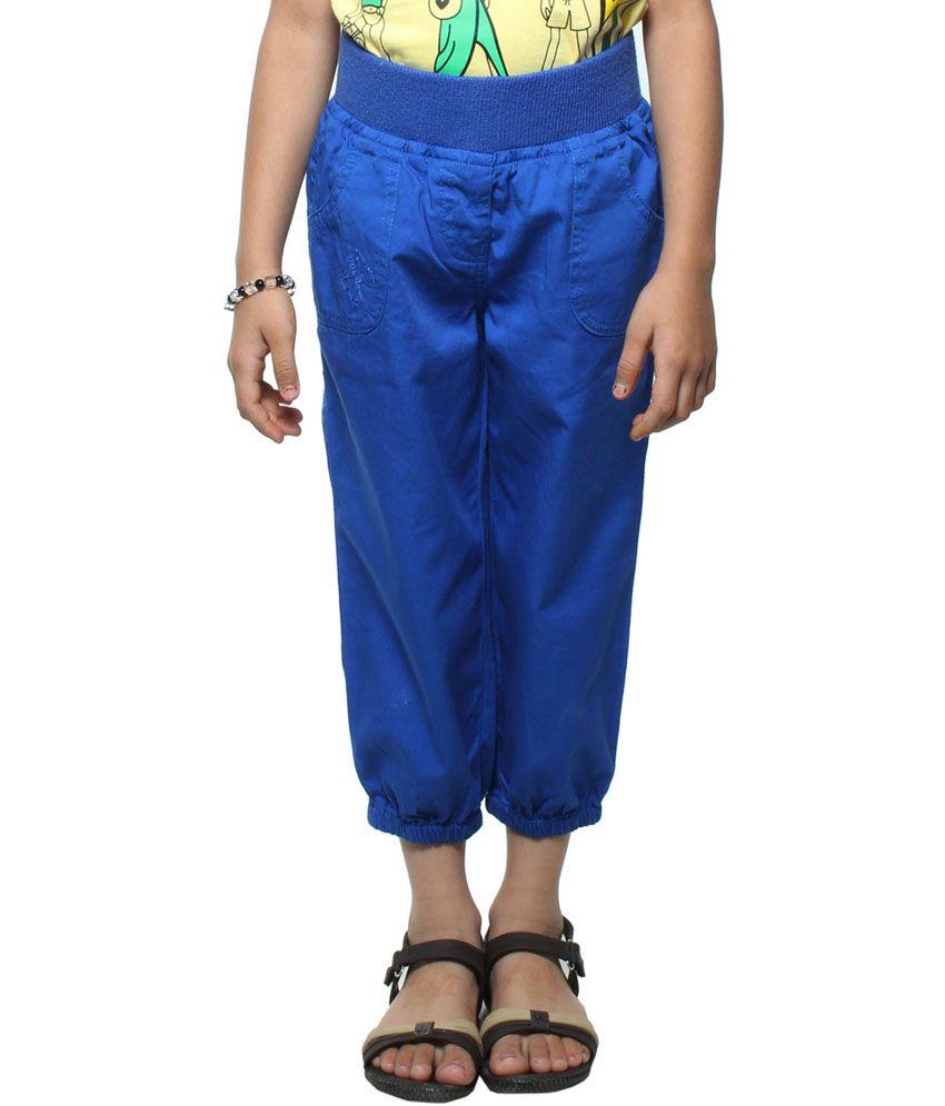 Stop By Shoppers Stop Playwear Girls Woven Royal Blue Capri