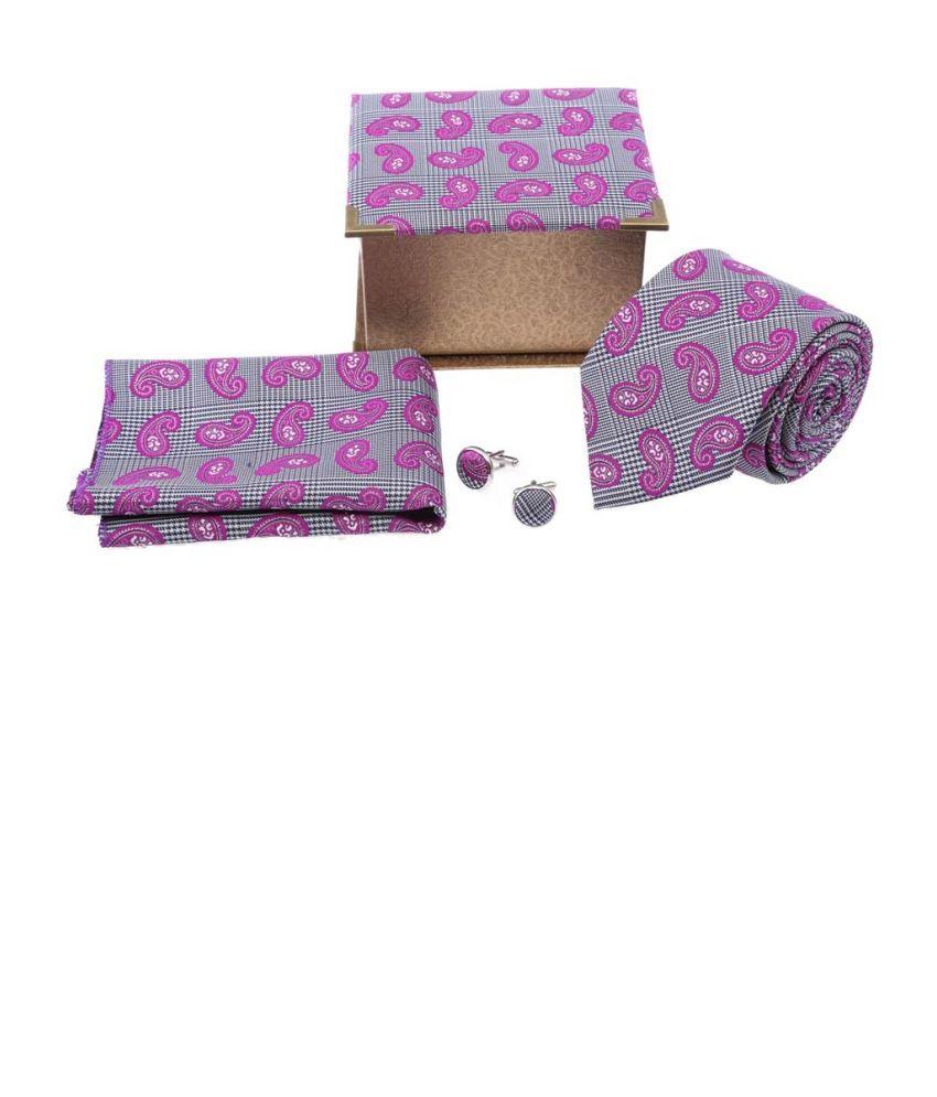 Tosiddo Pink Silk Floral Narrow Ties For Men