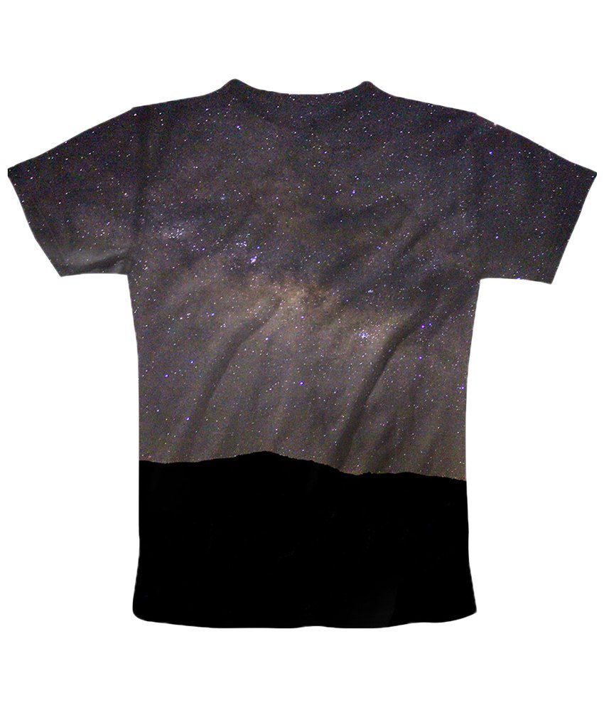 Freecultr Express Gray Starry Night Half Sleeves T Shirt