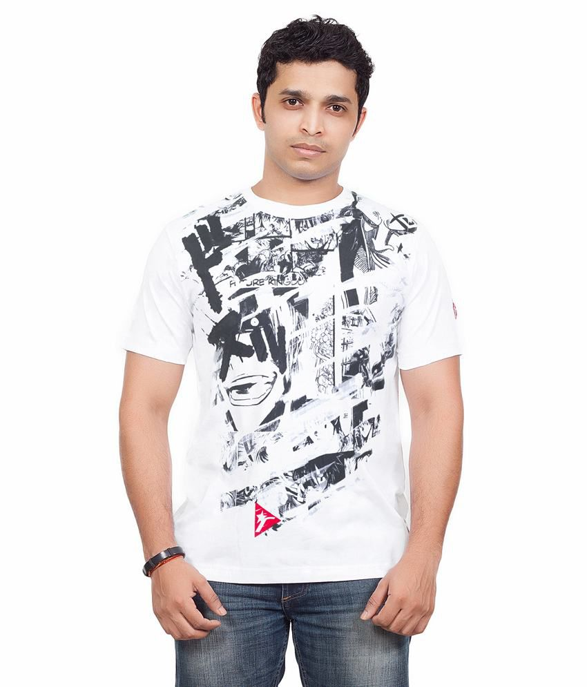 Radical Clothing Manga Men'S Cotton T Shirt-White