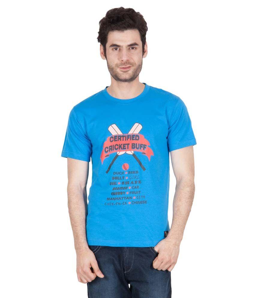The Enthu Cutlet Men Blue Printed T-shirt