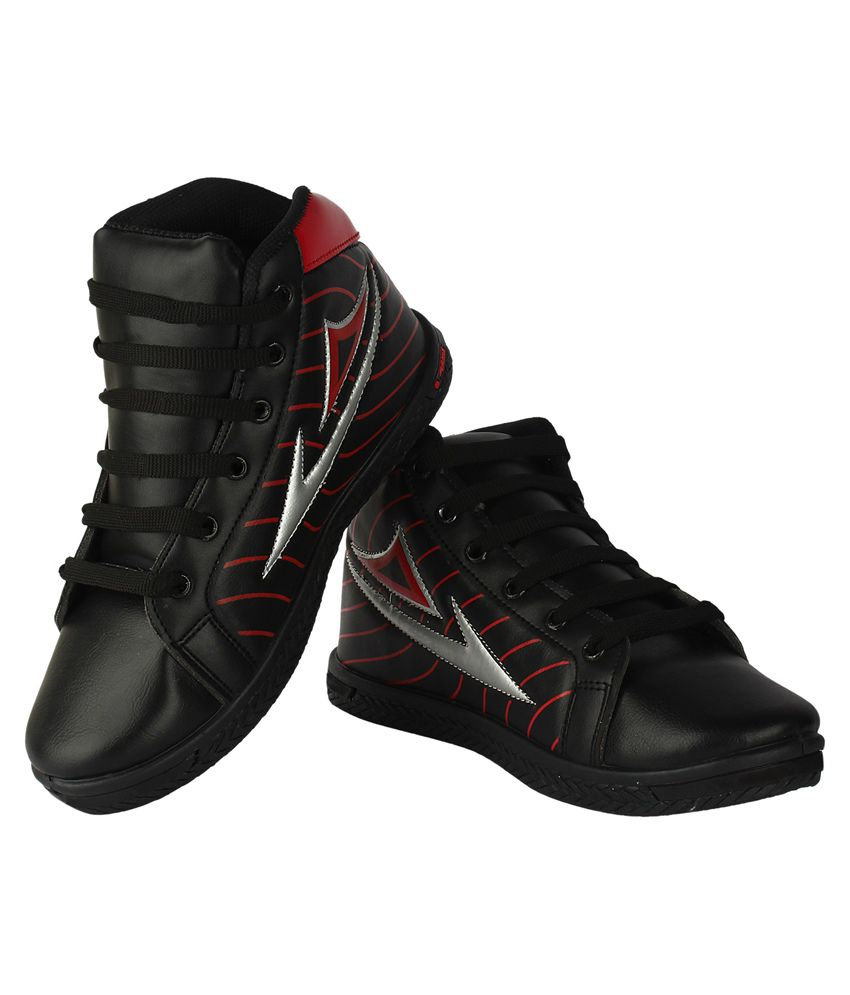 vivaan footwear black canvas sports shoes price in india