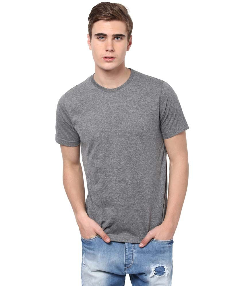 Aventura Outfitters Gray Cotton Blend Round Neck Shirt