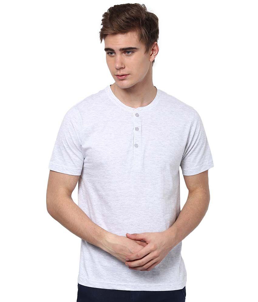 Aventura Outfitters White Cotton Blend Henley Shirt