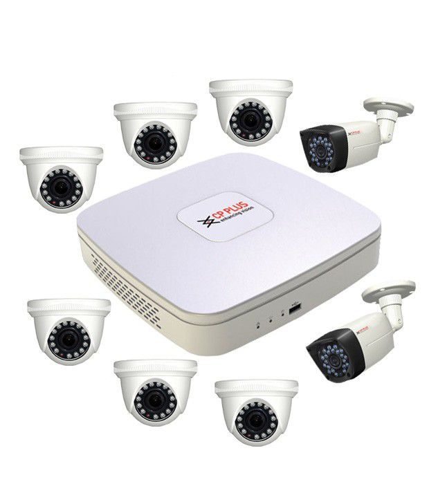 CP Plus 8 Ch DVR and 6 Dome IR & 2 Bullet IR -720 TV Camera CCTV Surveillance System